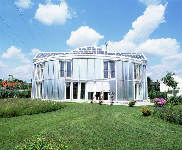 Housing Development Photograph - Solar-powered House by Martin Bond/science Photo Library