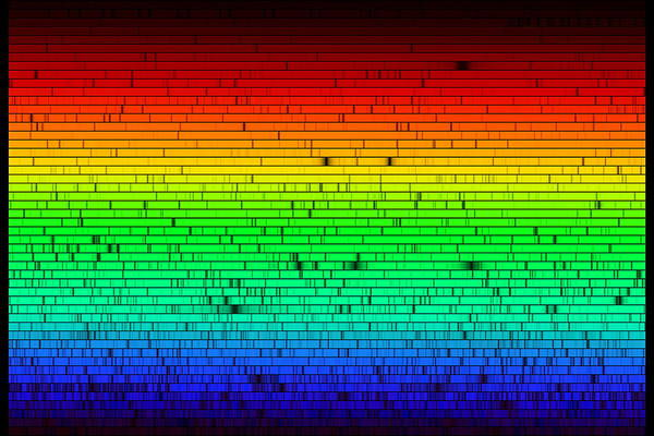 Photograph - Solar Spectrum by N.a.sharp, Noao/nso/kitt Peak Fts/aura/nsf/science Photo Library