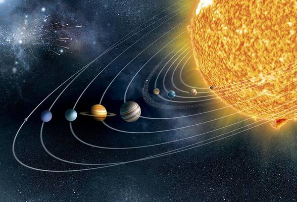 Earth Orbit Photograph - Solar System by Claus Lunau