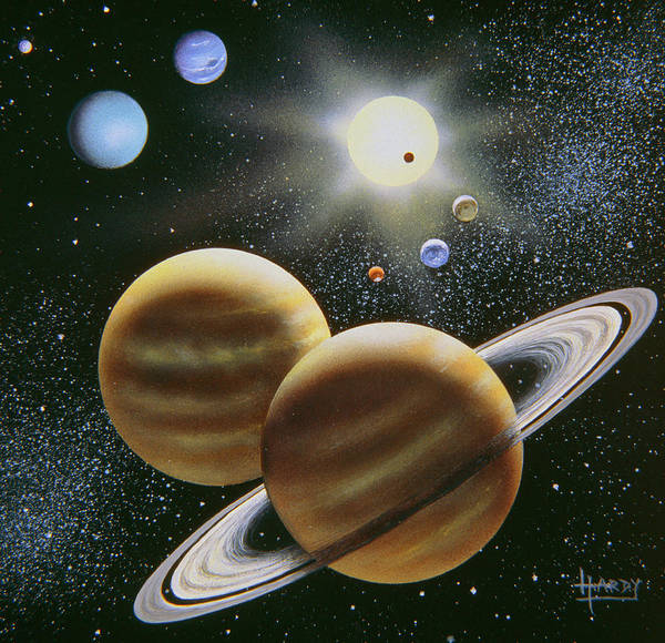 Photograph - Solar System by David A. Hardy/science Photo Library