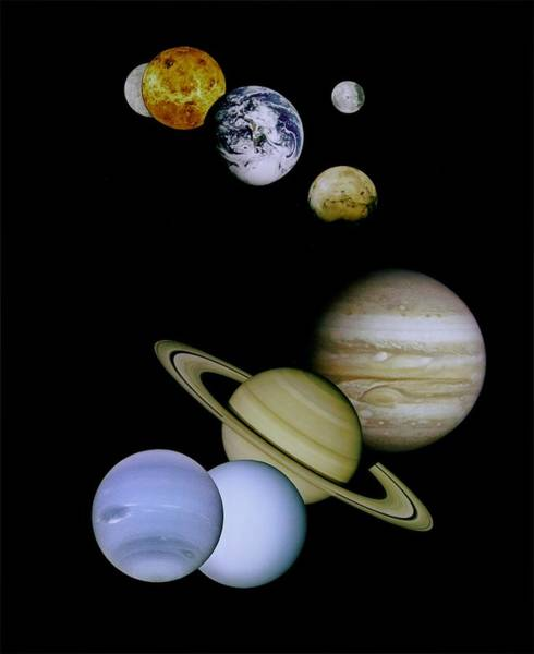 Photograph - Solar System Montage by Movie Poster Prints