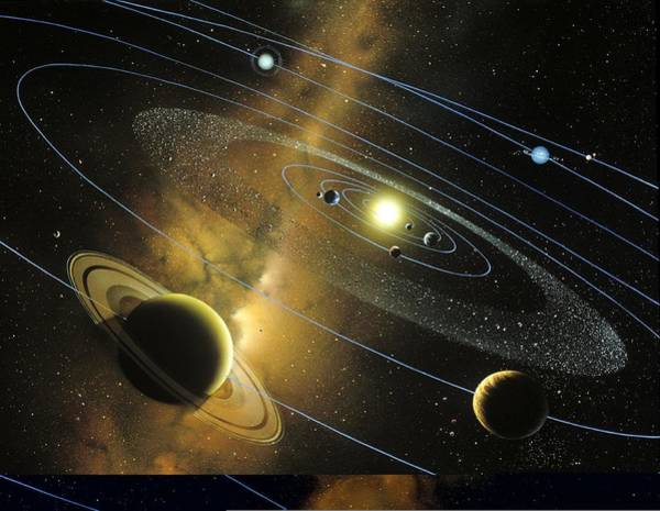 Wall Art - Photograph - Solar System Orbits, Artwork by Science Photo Library