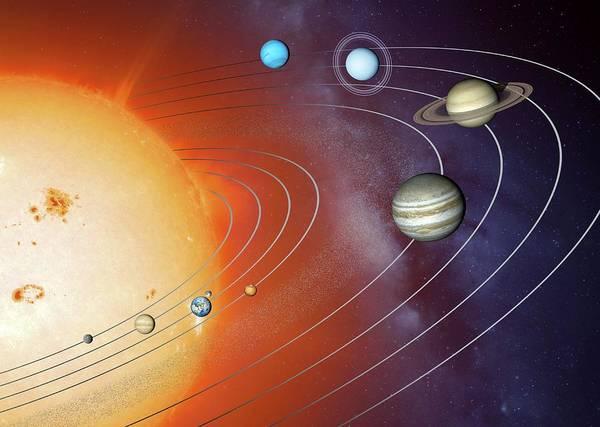 Wall Art - Photograph - Solar System Orbits by Detlev Van Ravenswaay