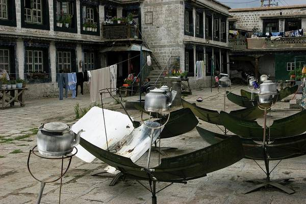 Tibet Photograph - Solar Water Heaters by Peter Menzel/science Photo Library