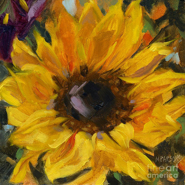 Painting - Sold Flower Power by Nancy  Parsons