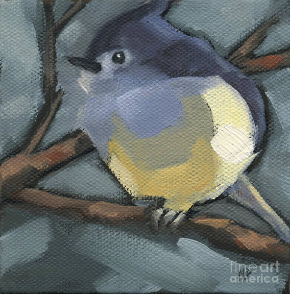 Painting - Sold Titmouse Camo by Nancy  Parsons