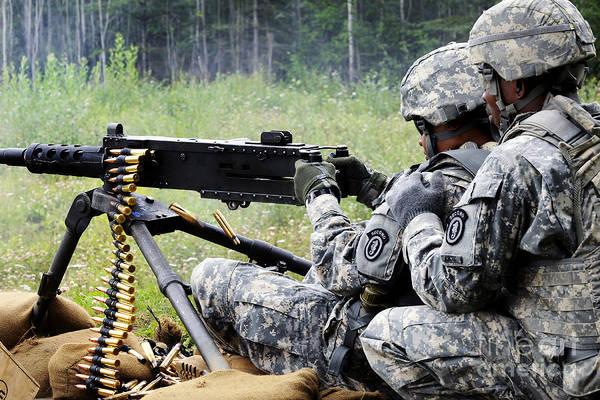 Elmendorf Photograph - Soldier Engages Targets Downrange by Stocktrek Images