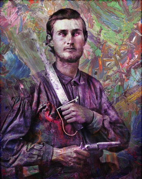 Wall Art - Painting - Soldier Fellow 1 by James W Johnson