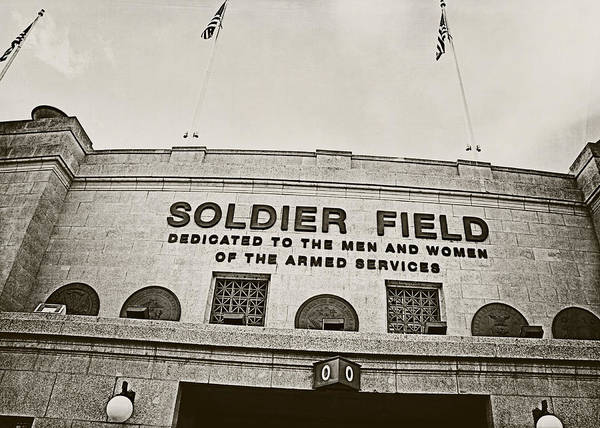 Soldier Field Photograph - Soldier Field by Jessie Gould