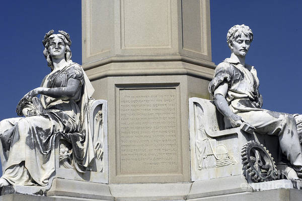 Gettysburg Address Wall Art - Photograph - Soldiers Monument Detail by Paul W Faust -  Impressions of Light