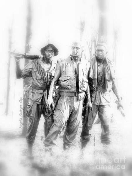 Respect Digital Art - Soldiers Never Forgotten by Angelia Hodges Clay