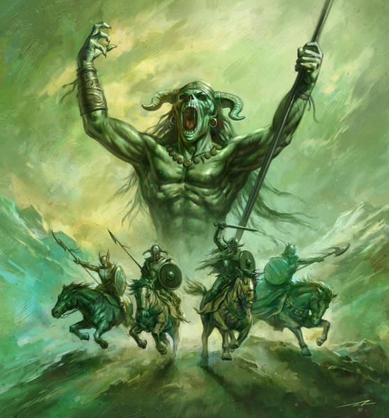 World Of Warcraft Wall Art - Painting - Soldiers Of Doom by Alan Lathwell