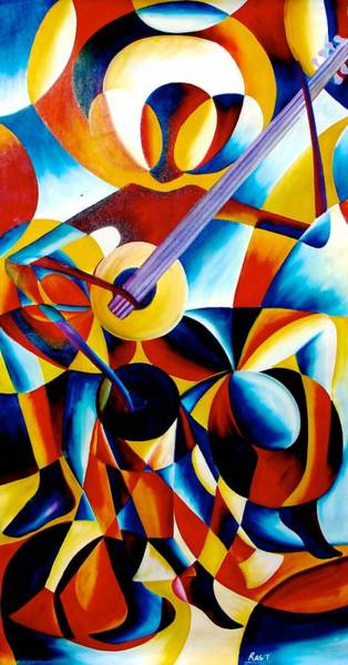 Painting - Sole Musician by Ras T