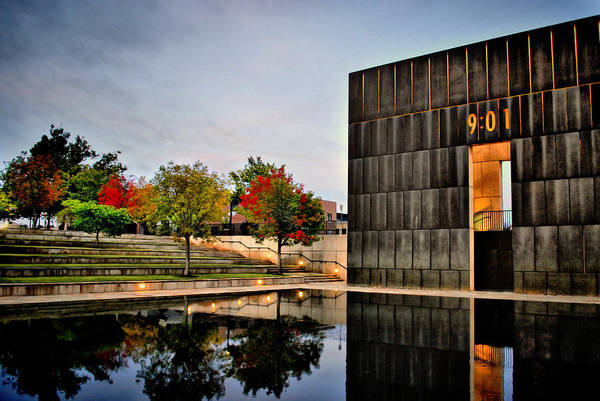 Time Frame Photograph - Solemn Reflections - Okc Memorial by Gregory Ballos