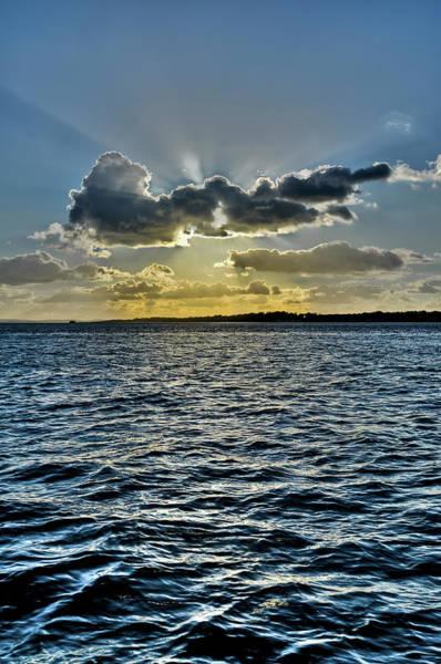 Photograph - Solent Sun Rays by Gary Eason