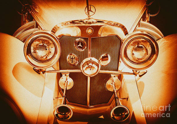Photograph - Solid Gold Mercedes by Paul W Faust -  Impressions of Light