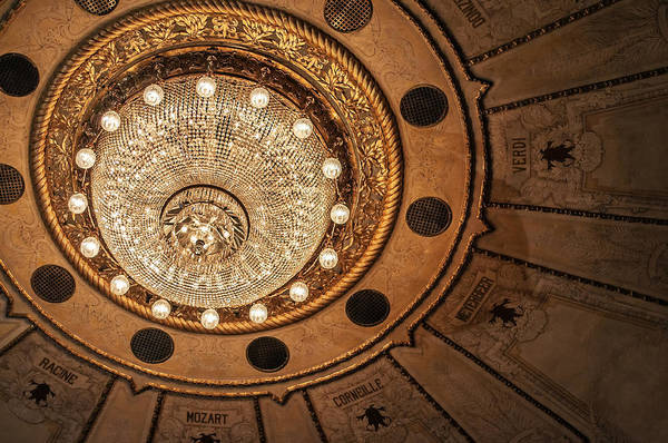 Montevideo Wall Art - Photograph - Solis Theater Ceiling by Jess Kraft