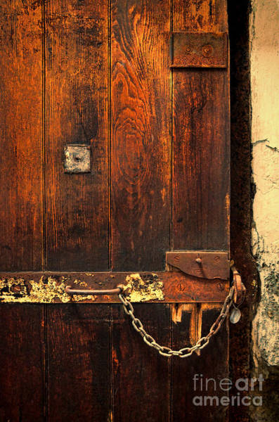 Wall Art - Photograph - Solitary Confinement Door by Jill Battaglia