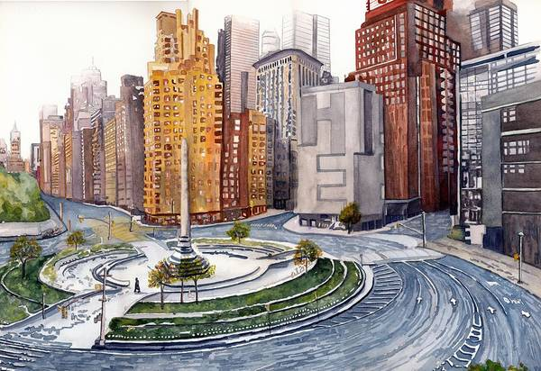 Wall Art - Painting - Solitary Nyc by Gerald Carpenter