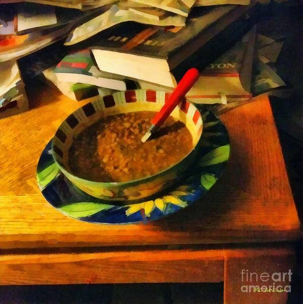 Painting - Solitary Supper by RC DeWinter