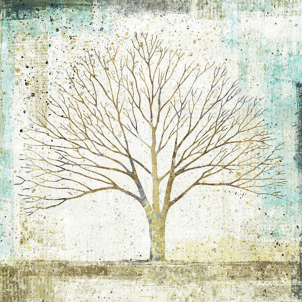 Lone Tree Painting - Solitary Tree Collage by Avery Tillmon