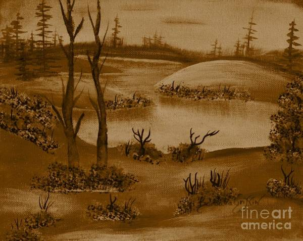 Desolation Painting - Solitude Of Winter by Barbara Griffin