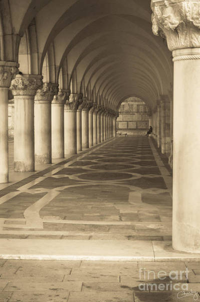 Photograph - Solitude Under Palace Arches by Prints of Italy