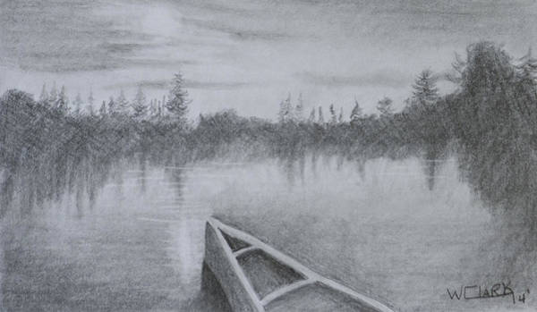 Drawing - Solitude by Wade Clark