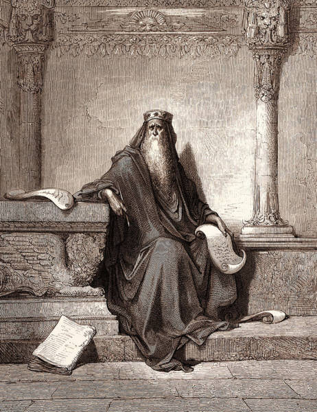 Dor Drawing - Solomon, By Gustave DorÉ. Gustave Dore, 1832 - 1883 by Litz Collection