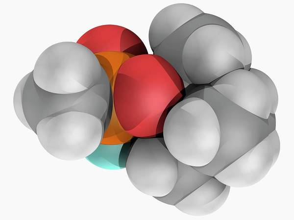 Soman Molecule Art Print by Laguna Design/science Photo Library