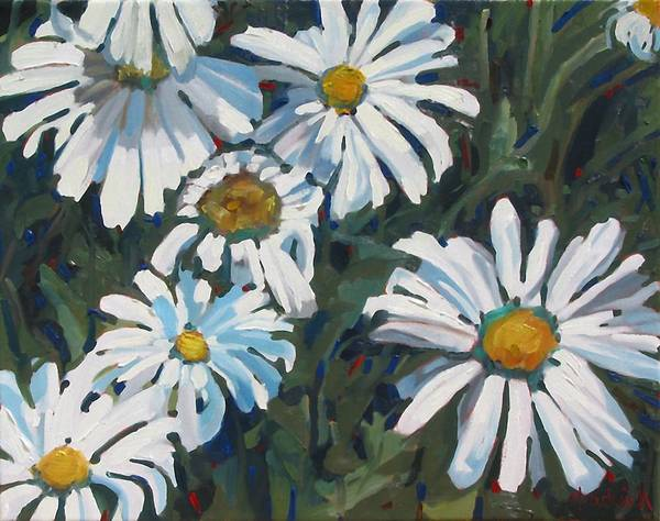 Birder Painting - Some Are Daisies by Phil Chadwick