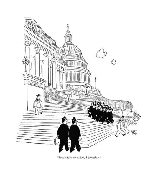 Capitol Drawing - Some Bloc Or Other by Robert J. Day