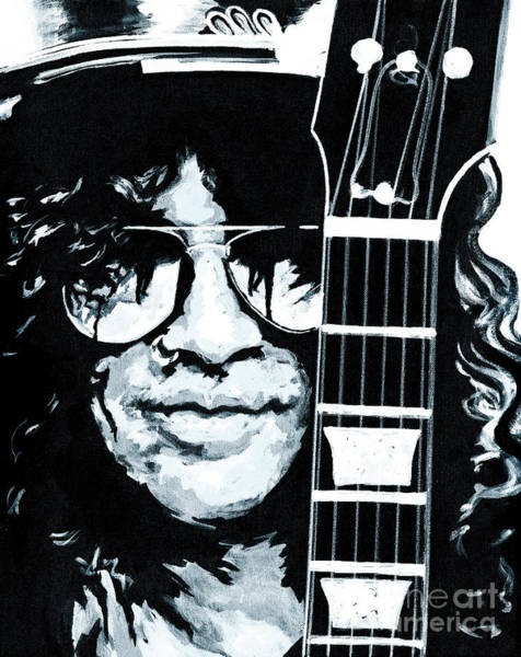 Guns And Roses Painting - Some Cool Guitar Player- Slash by Tanya Filichkin