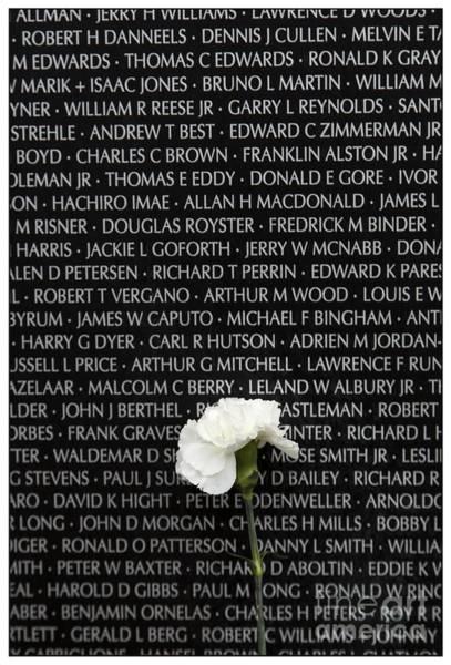 Veterans Photograph - Some Gave All - Vietnam Veterans Memorial by Edward Fielding