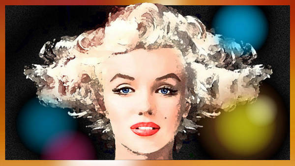 Painting - Marilyn - Some Like It Hot by Hartmut Jager