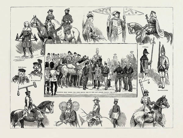 Wall Art - Drawing - Some Of The Most Attractive Features Of The Lord Mayors Show by Litz Collection
