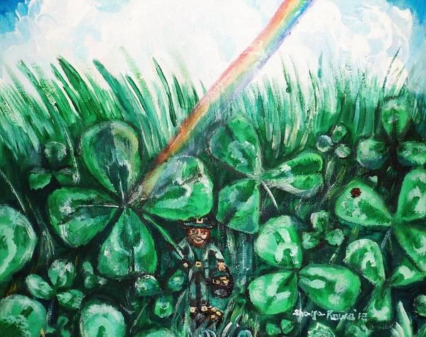Lucky Clover Painting - Some Where Under The Rainbow by Shana Rowe Jackson