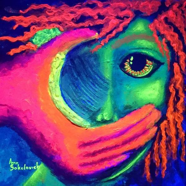 Blacklight Painting - Someday Blacklight by Ann Sokolovich