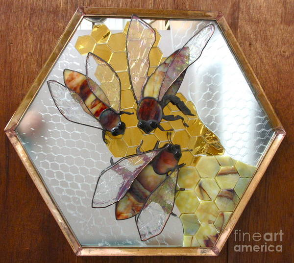 Glass Art - Something About Bees by Sherri Anderson