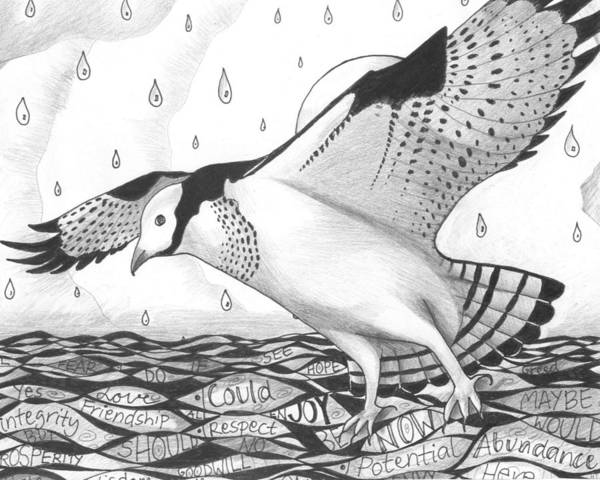 Drawing - Sometimes A Great Catch by Helena Tiainen