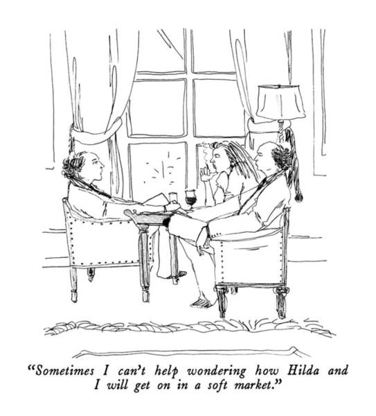 April 9th Drawing - Sometimes I Can't Help Wondering How Hilda by Richard Cline
