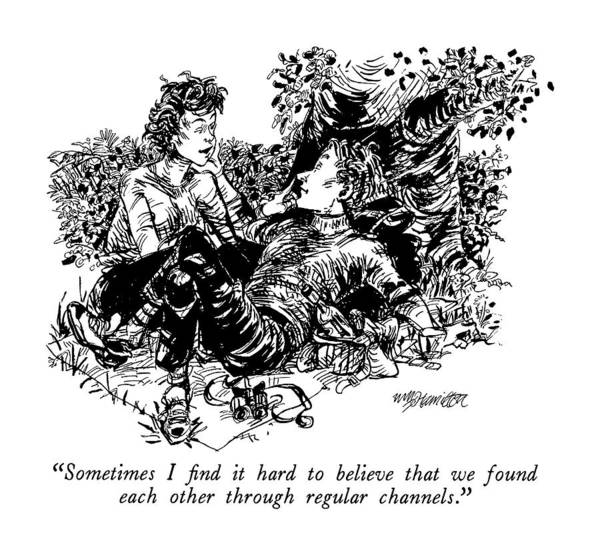 Picnics Drawing - Sometimes I Find It Hard To Believe That We Found by William Hamilton