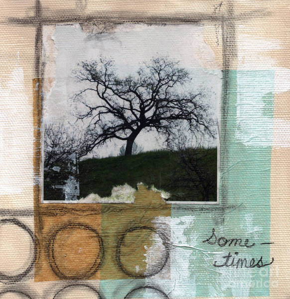 Circles Mixed Media - Sometimes by Linda Woods