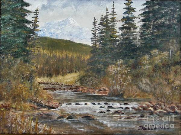Wall Art - Painting - Somewhere Above South Fork by Dana Carroll