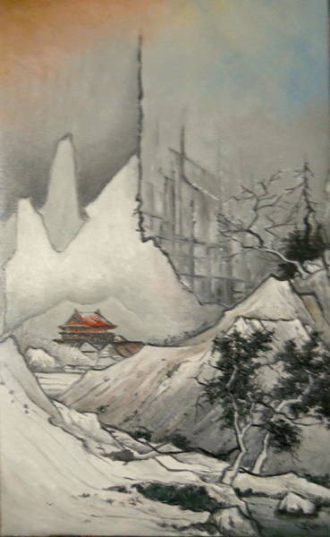 Wall Art - Painting - Somewhere In Japan by Sorin Apostolescu