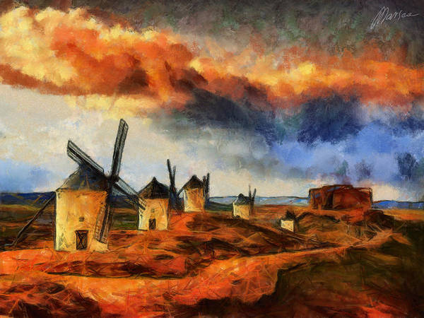 Castilla La Mancha Painting - Somewhere In Spain by Marina Likholat