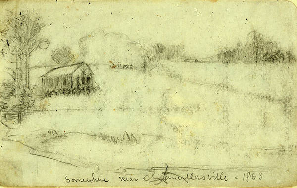 Wall Art - Drawing - Somewhere Near Chancellorsville, 1863, Drawing, 1862-1865 by Quint Lox