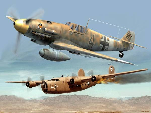 Afrika Korps Digital Art - Somewhere Over Tunisia by Mil Merchant