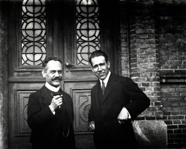 Nobel Prize Winners Wall Art - Photograph - Sommerfeld And Bohr by American Philosophical Society