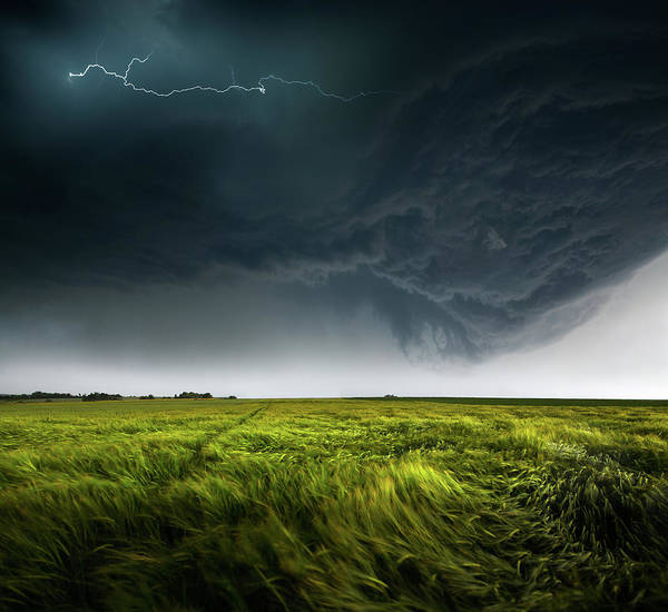 Cloudy Photograph - Sommergewitter_01 by Franz Schumacher